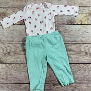 3 month owl onesie and ruffle pant bundle